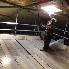 Principal Designer for construction of a temporary access scaffold platform in a radome on top of a dish antenna pedestal.