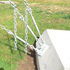 Design of guy anchor blocks on an HF communications site.