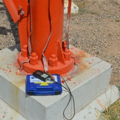 Undertaking a corrosion survey at a high-power broadcast station.