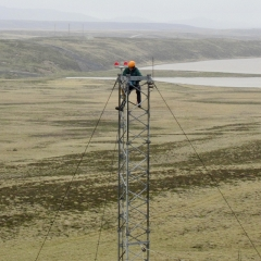 PZ&W Engineers undertake full height climbing inspections in some very remote locations.