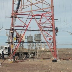 Design check of tower strengthening proposal for structures at high power broadcasting station.